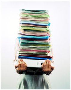 woman-with-stack-papers